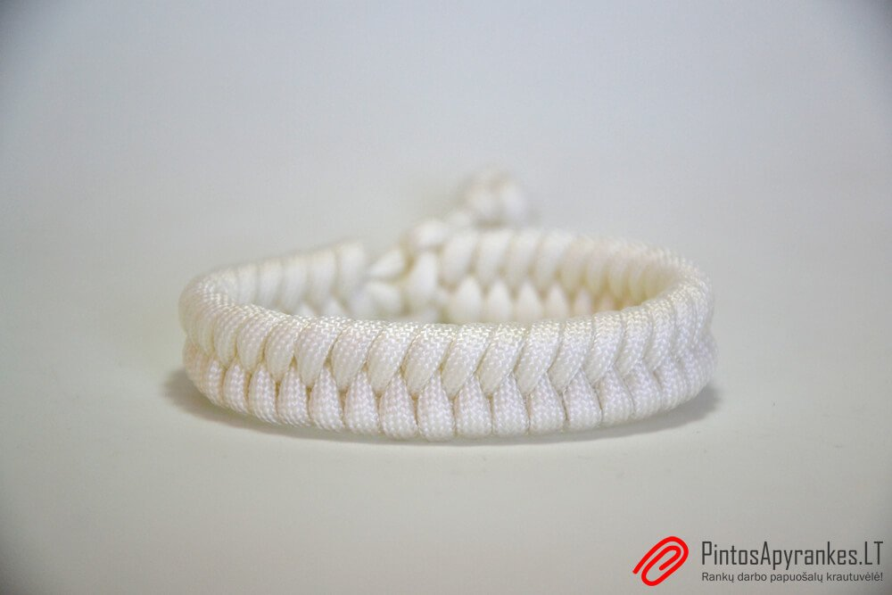"Paracord apyrankė ""Fishtail White"""