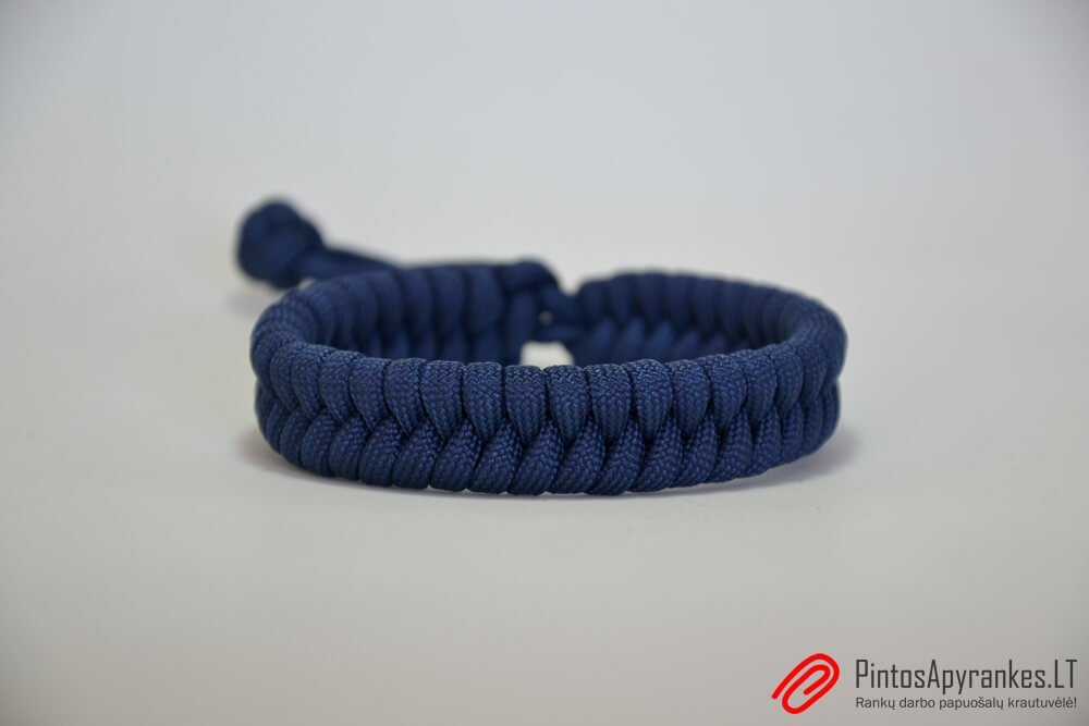 "Paracord apyrankė ""Fishtail Navy"""