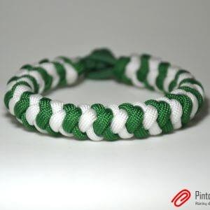 "Paracord apyranke ""Green White"""